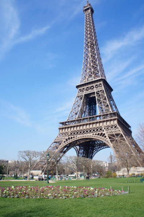 I finally saw the Eiffel Tower...
