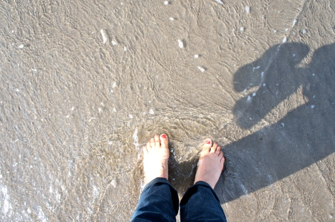 I felt the sand between my toes in Ireland...