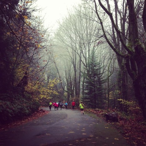 Ran my favorite race to date, on a cold and foggy Seattle morning...